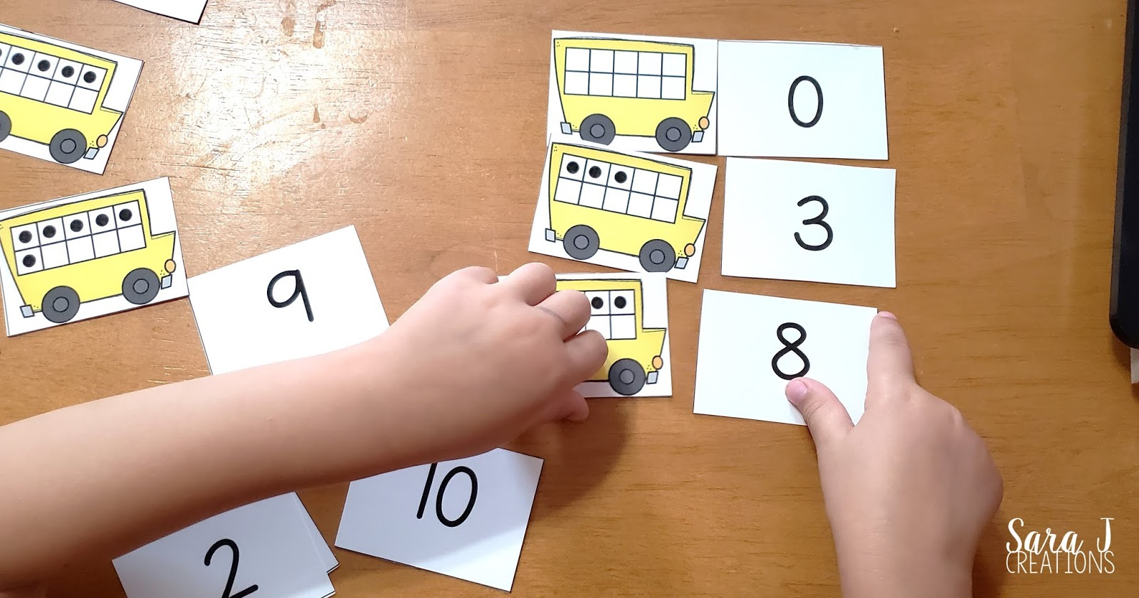 Practice counting and subitizing with these adorable school bus ten frames matching activities. These cards and recording sheets can be used in a variety of ways to differentiate math in your classroom. Ideal for math workshop, math centers, intervention groups, small group and independent practice. Click here to download your free cards and get your back to school season off to a fun start!