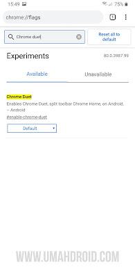 Google Chrome Flags Settings Duet 1