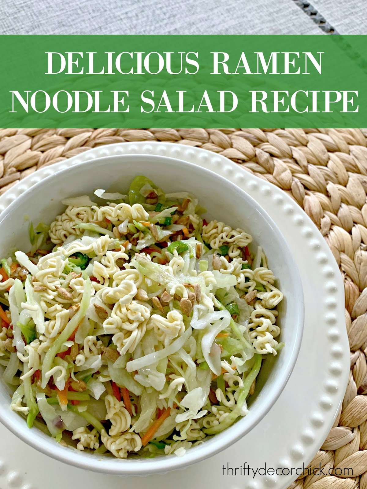 Easy ramen noodle salad recipe