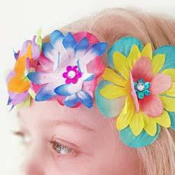Hawaiian lai flower fairy headband DIY tutorial