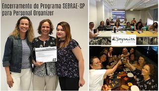 Certificado e comemoração no encerramento do curso do SEBRAE