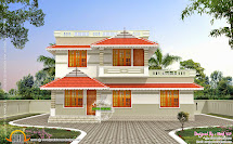 Kerala Style Cost Double Storied Home