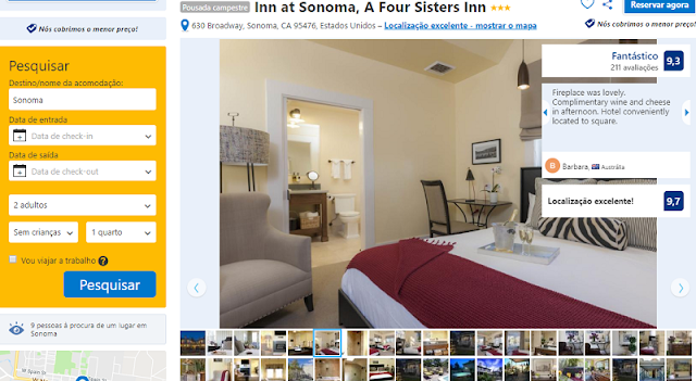Estadia na Pousada Inn At Sonoma, a Four Sisters Inn
