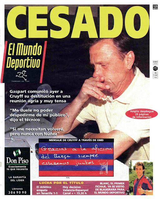 Mundo Deportivo Cruyff Demitido