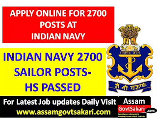 Indian Navy Sailor Recruitment 2019-Apply Online for Aug-2020 Batch [2700 Posts]
