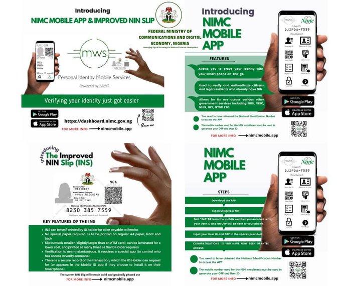 improved nin slip and NIMC Mobile App