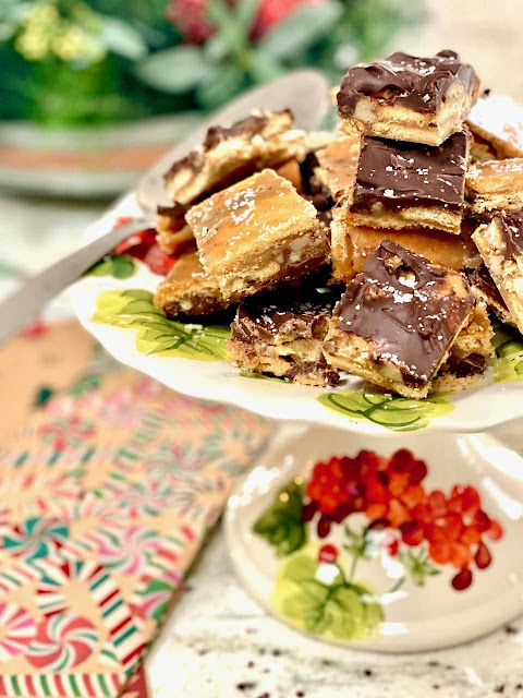 Salted Chocolate Toffee Bars