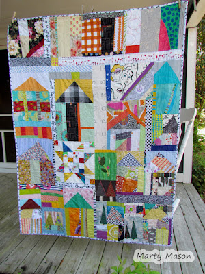 working in a series - house quilts by marty mason
