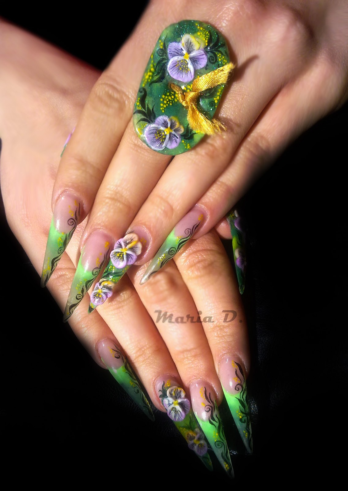 Nail art: Stiletto nail art designs