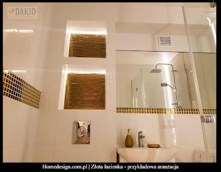 złota łazienka - aranżacje i inspiracje