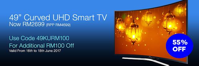 Samsung 49 Inches 4K UHD TV Lazada Voucher Code