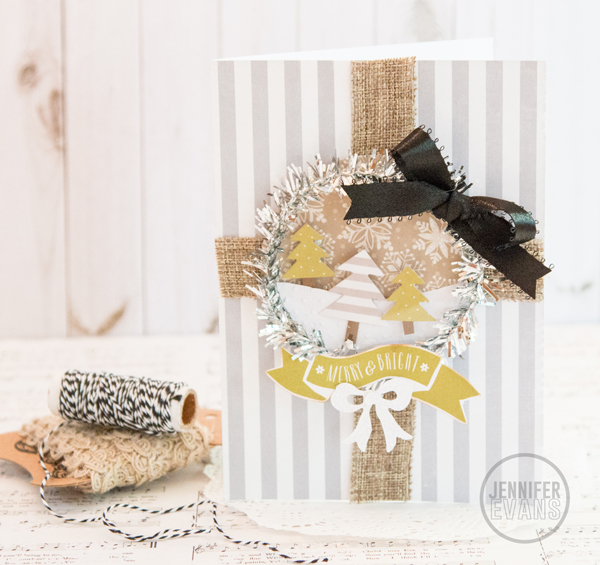 Merry and Bright Christmas Card @pinkpaislee @createoften #pinkpaislee #ppmerryandbright