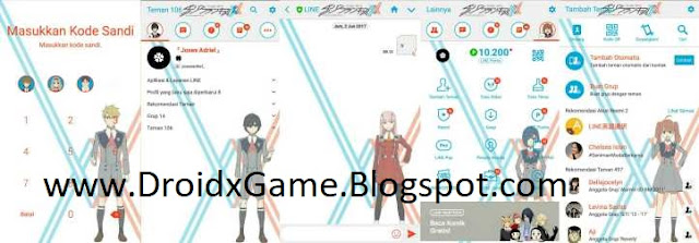 Download Tema Line Anime Darling in the Franxx