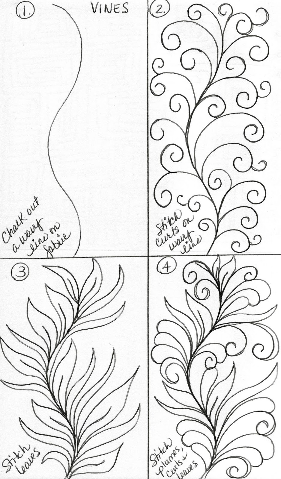 Vine Designs Art : Luann kessi sketch book vine designs
