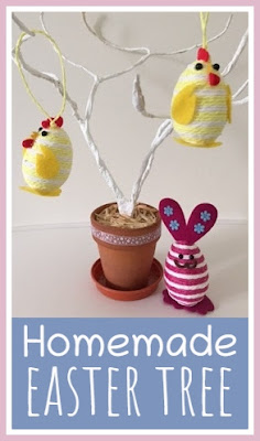 Homemade Easter tree tutorial