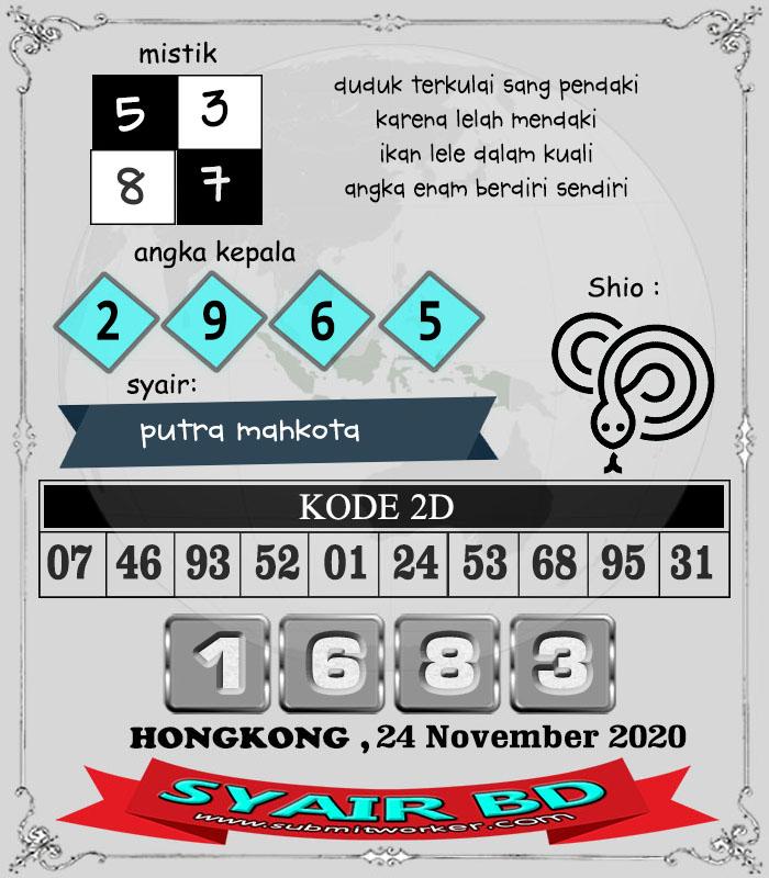 Syair BD HK Selasa 24 November 2020