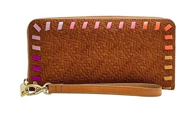 Fossil Logan RFID Zip Around Clutch Wristlet Wallet review