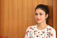 Lavanya Tripathi in Summer Style Spicy Short White Dress at her Interview  Exclusive 221.JPG