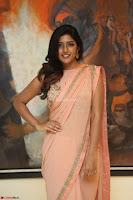 Eesha Rebba in beautiful peach saree at Darshakudu pre release ~  Exclusive Celebrities Galleries 066.JPG