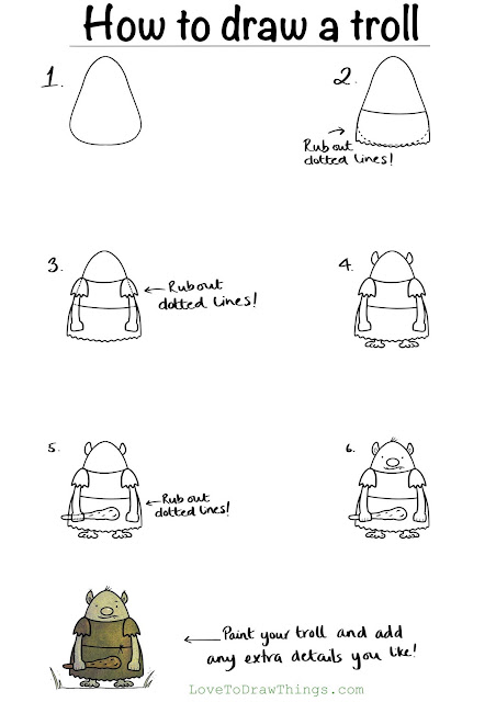 Easy things to draw. Drawing tutorial for beginners. Easy step by step drawing