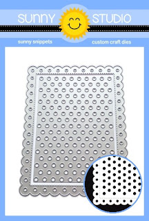 Sunny Studio Stamps: Frilly Frames Polka-Dot Stitched Scallop Mix & Match Background Mat Dies