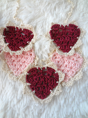 How to Make a Crocheted Heart Bunting, one of my favorites this week!