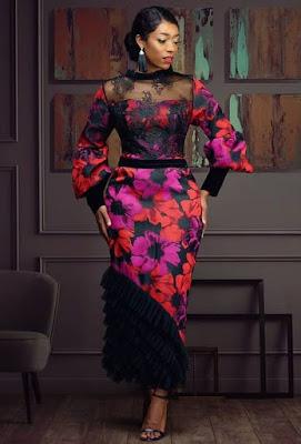 Ankara and Lace Styles Combination