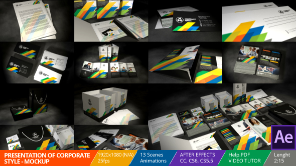 videohive presentation of corporate style - mockup - free download, Powerpoint templates