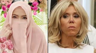 Ustadz Hilmi Tanggapi Istri Macron: Siapa Yang Menakutkan Bagi Anak-anak? Yang Berhijab atau Anda?