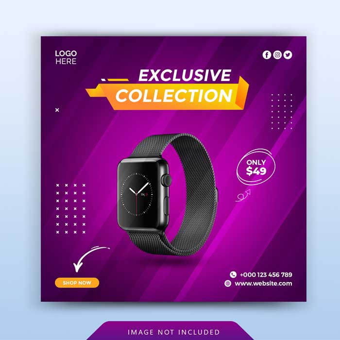 Exclusive Watch Promotion Banner Template