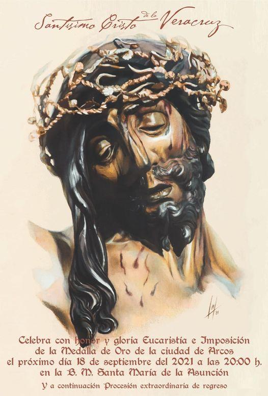 Cartel Salida Extraordinaria del Stmo. Cristo de la Vera+Cruz de Arcos. 18 de Septiembre del 2021