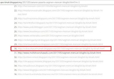 Blog mrs pip tersenarai dalam bloglist 'SEGMEN MENCARI BLOGLIST BY KINAH'