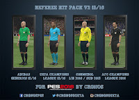 PES 2016 New Referee Kit Pack v2 15/16 by Cronos