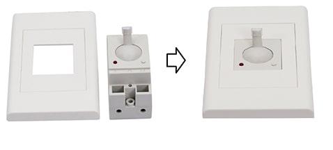 công tắc cảm biến ánh sáng kết hợp định thời DN2207-T tương thích hầu hết mặt nạ điện âm tường