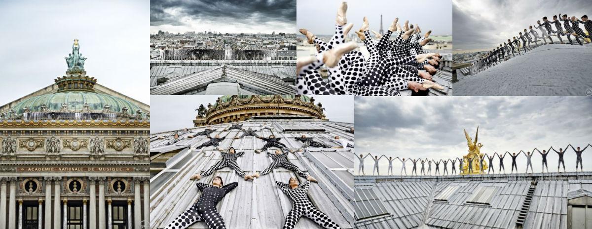 Bailarines sobre la Ópera de París