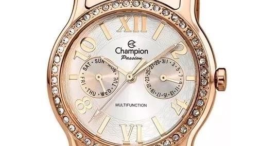 20924d396ed BLOG BIG ITA  Relógio Champion Passion Feminino Rose Ch38468z Original