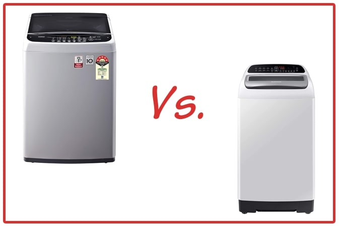 LG T65SNSF1Z (left) and Samsung WA65T4262GG/TL (right) Washing Machine Comparison.