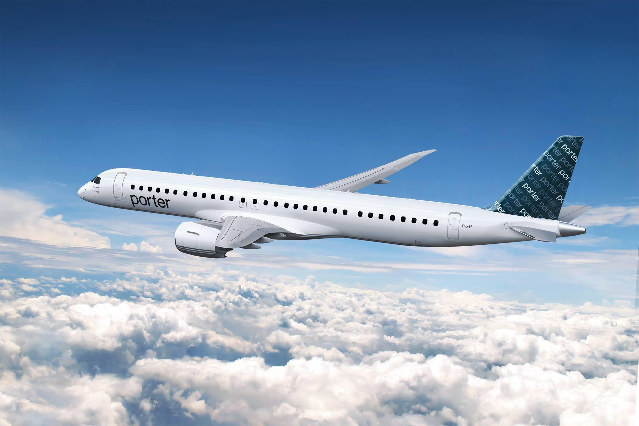 Embraer (EMBR3) assina contrato de Serviços e Suporte com a Porter Airlines | É MAIS QUE VOAR