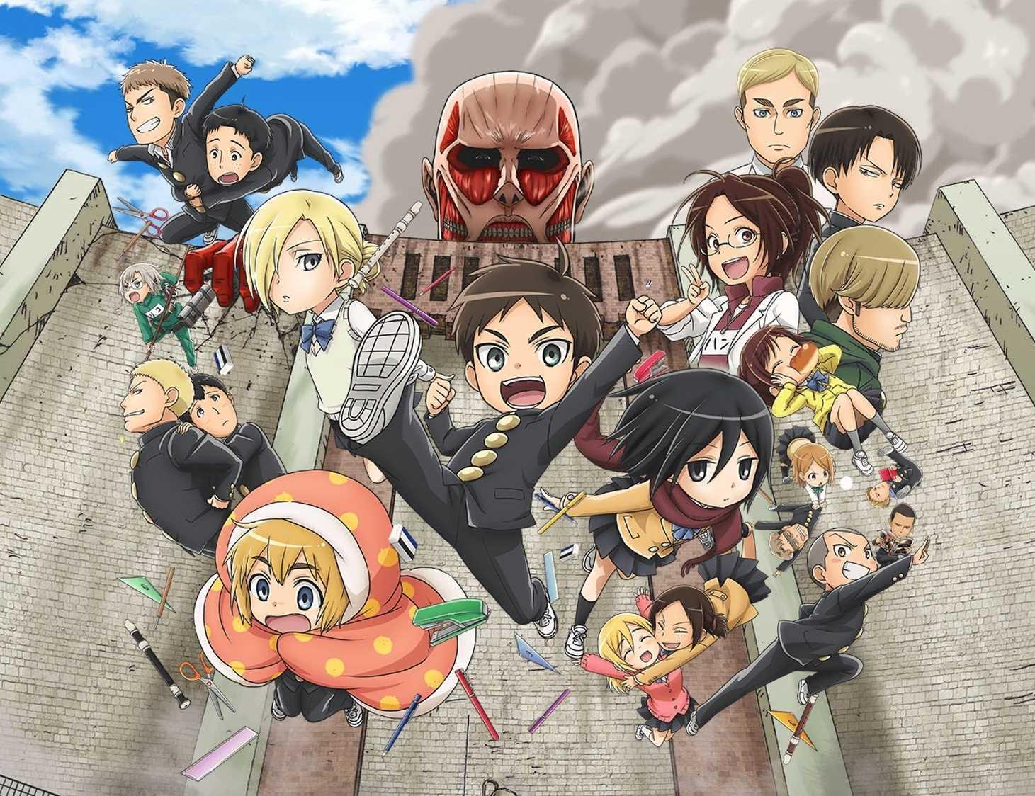 حلقات إعدادية الهجوم على العمالقة - Shingeki! Kyojin Chuugakkou-تمت اضافة الحلقة 12والأخيرة