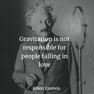 Albert Einstein Inspirational Quote about gravity