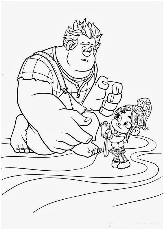 fun coloring pages wreck it ralph coloring pages