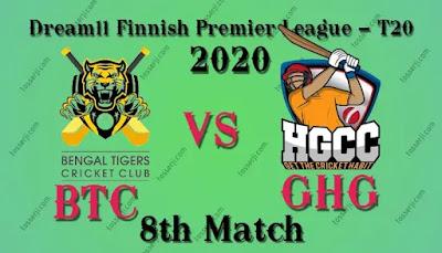 Who will win BTC vs GHG 8th T20I Match