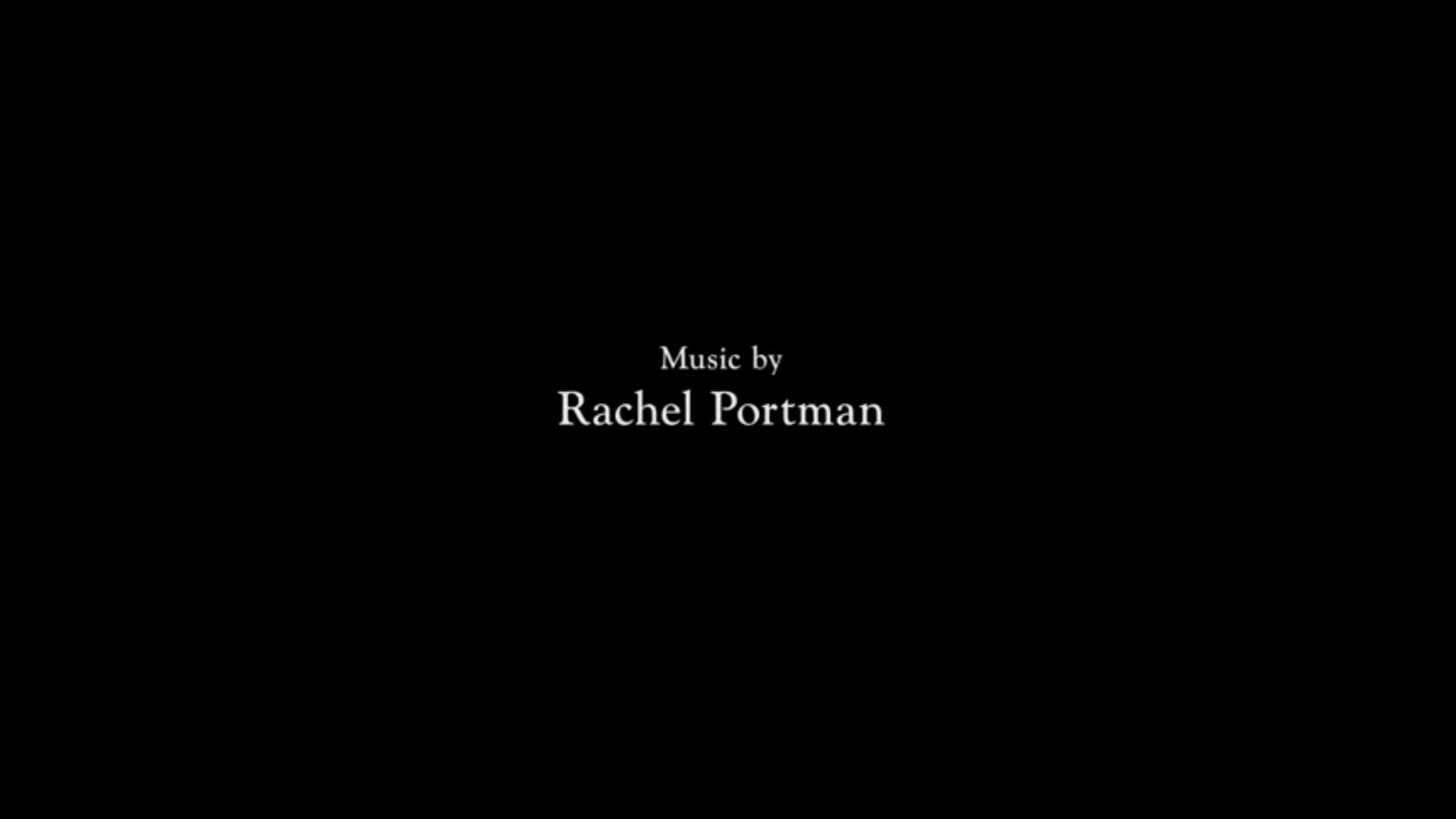 THE COMPOSER CREDITS PROJECT: RACHEL PORTMAN