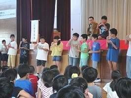 道徳授業地区公開講座 「三遊亭楽春(講師) 想像力とコミュニケーションを育てる落語」