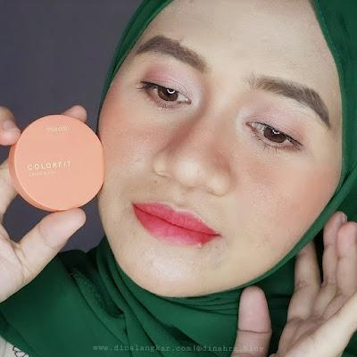 Cream blush on wardah colorfit