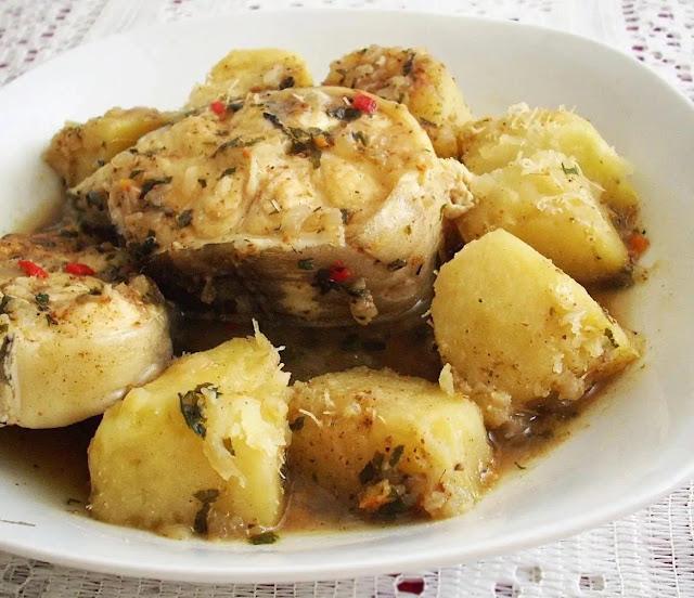 Fish and yam stew
