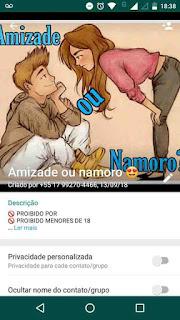 Amizade ou Namoro - Link de Grupo do WhatsApp