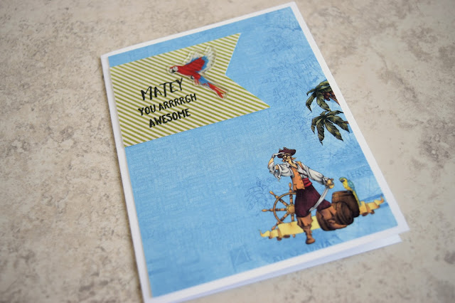 Pirate Card by Jess Crafts featuring Scrapping for Less June 2017 Card Kit