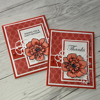 Card ideas using To A Wild Rose Stamp Set from Stampin' Up!