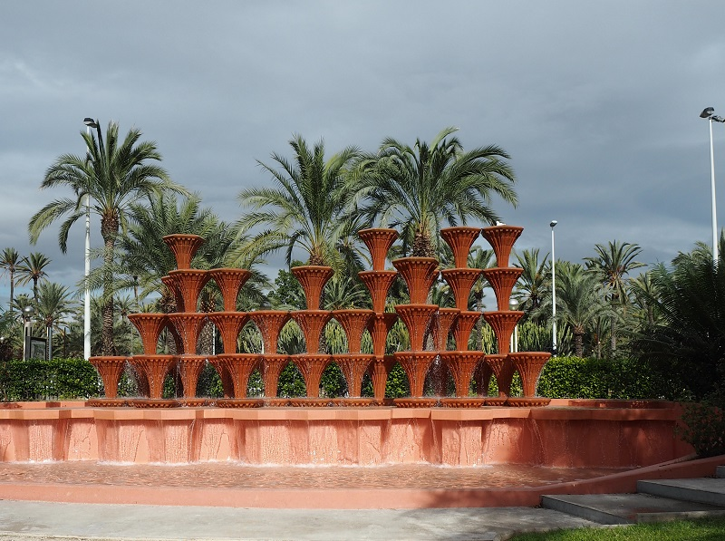 Fountain in Elche's municipal park